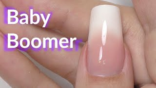 Gel Baby Boomer Nails Manicure Tutorial
