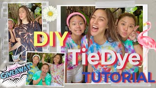 DIY TIE DYE SHIRT TUTORIAL + giveaways!