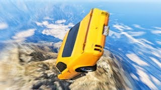 HOW I SURVIVED A 3000 FOOT MOUNTAIN FALL! (Gta 5 Funny Moments)