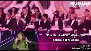 BTS reaction to BLACKPINK AS IF IT'S YOUR LAST GOLDEN DISK AWARDS Sub español