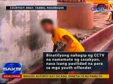Binatilyong nahagip ng CCTV na namamato, nasa isang pasilidad na para sa mga youth offender