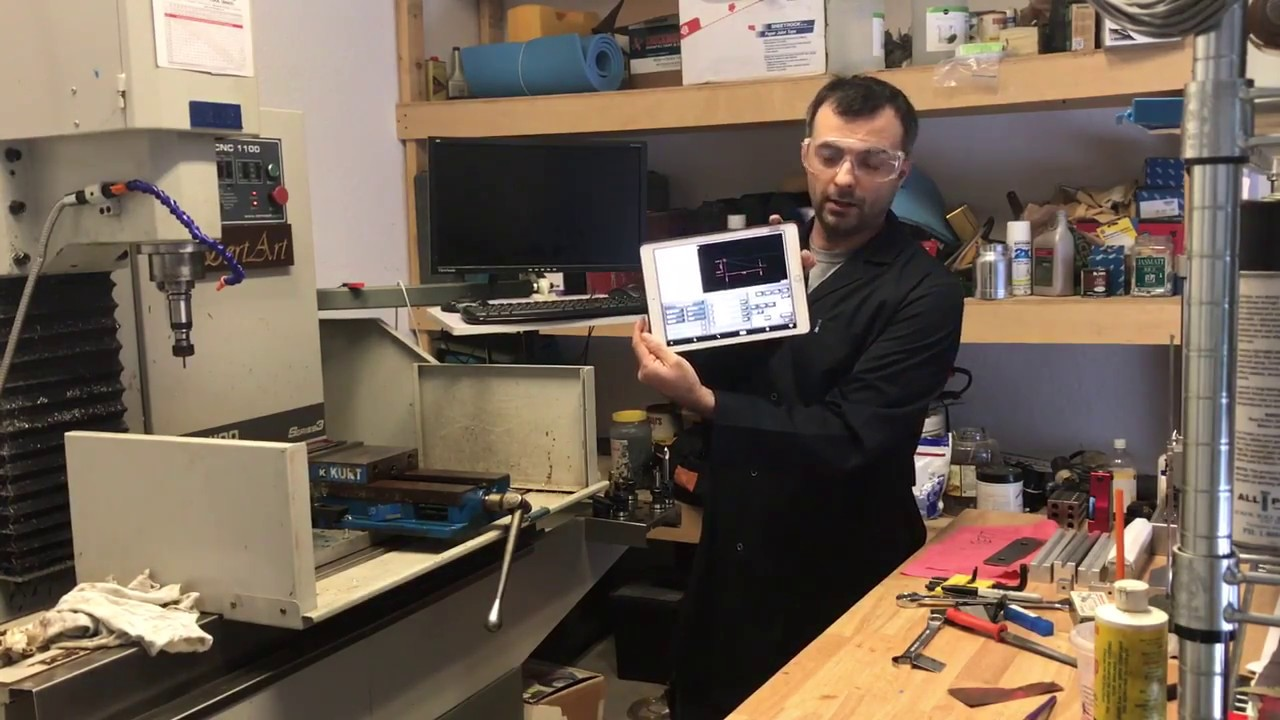Tormach Pathpilot on iPad, romote control, touch screen