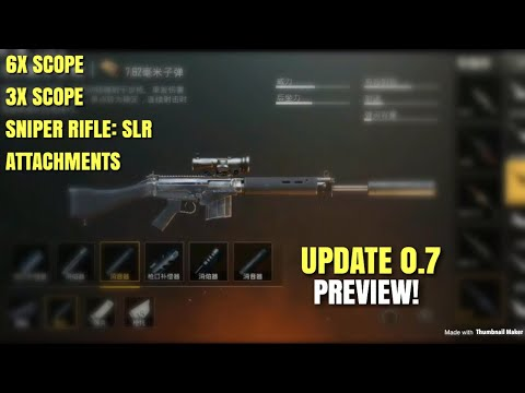 UPDATE 0.7 PREVIEW | PUBG Mobile Lightspeed | New Weapon, Scopes, Attachments & Flare Gun?