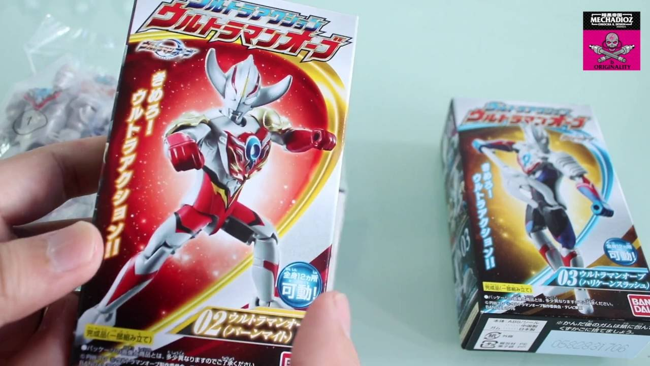 Ultraman Orb Candy Toy Review Youtube
