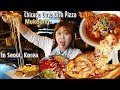 까니짱 야외먹방|강남역 오리지날 시카고 피자에서 치즈가 쭈욱 늘어나는 피자 먹방!
