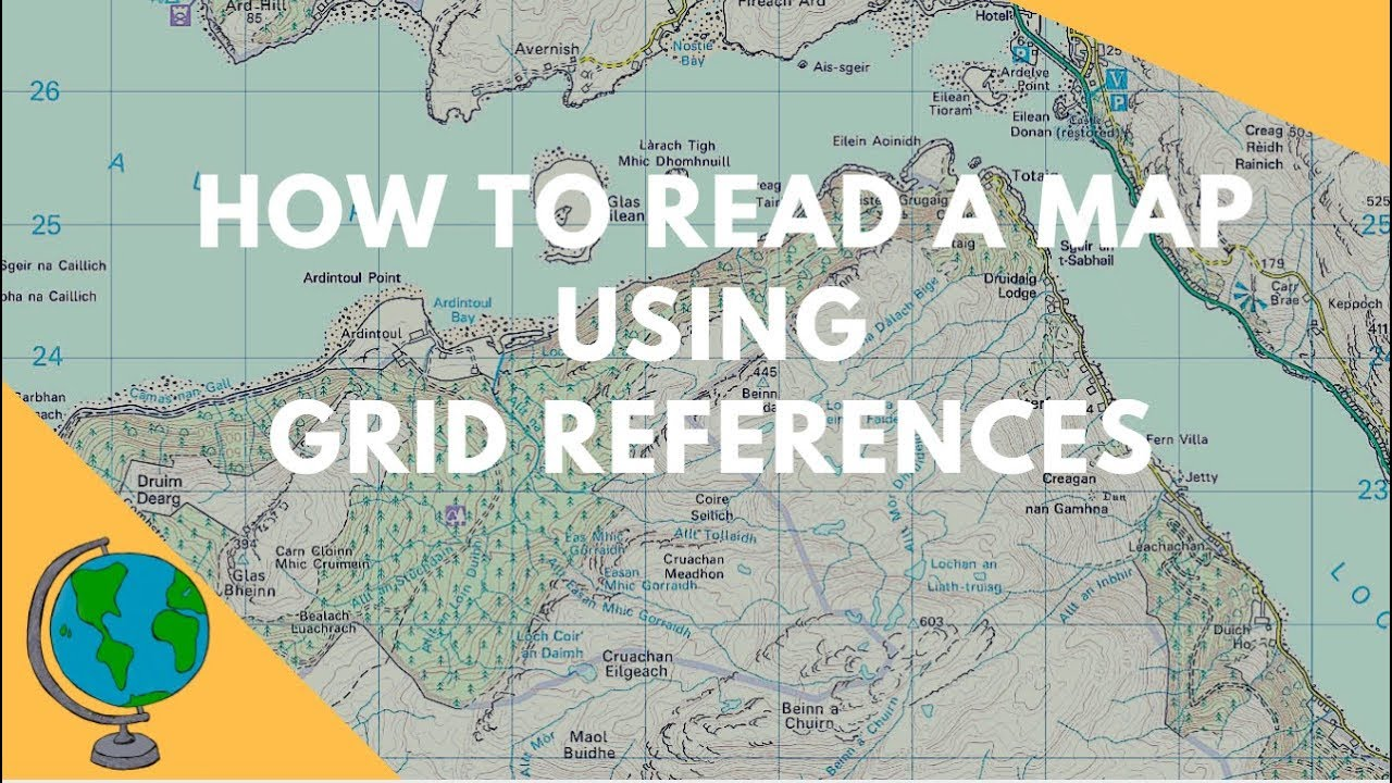 How To Read A Map How to read Maps   Grid References (Geography Skills)   YouTube How To Read A Map