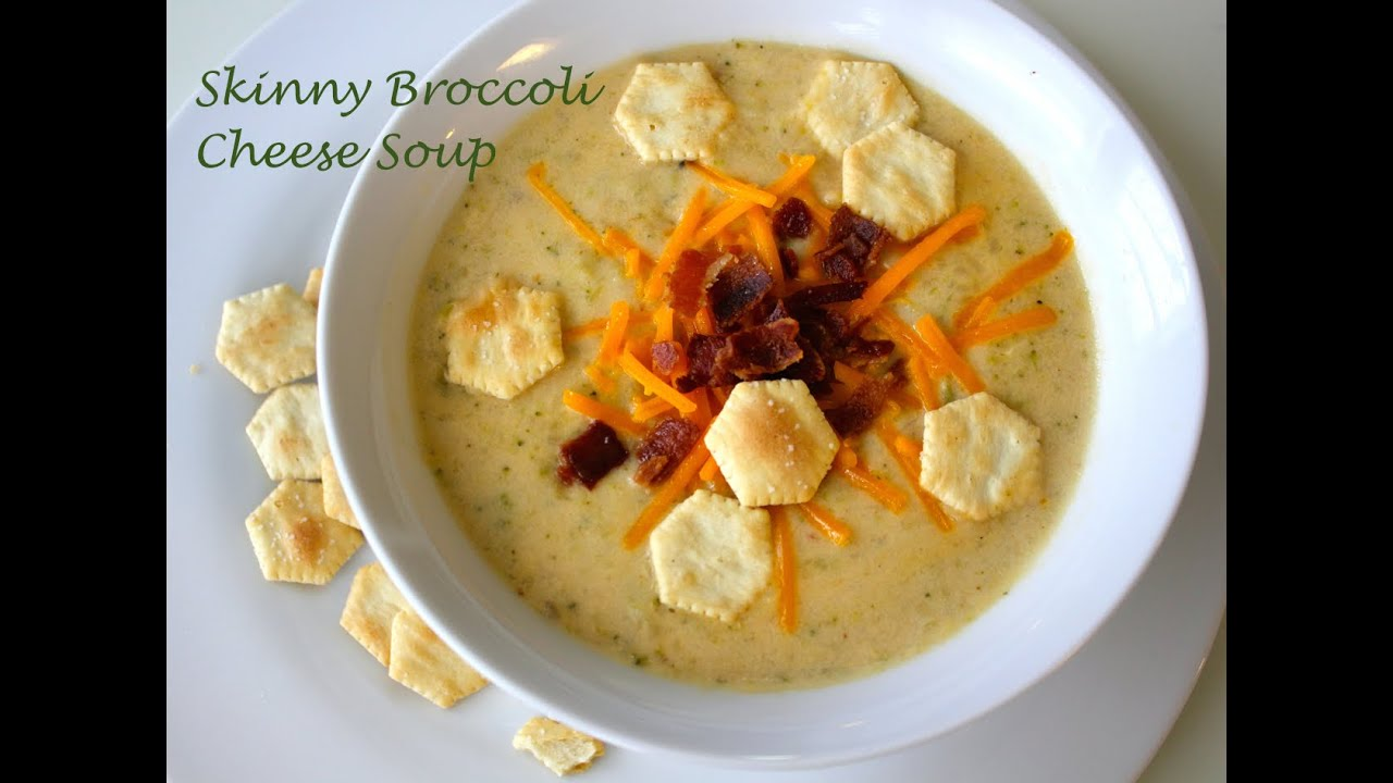 Healthy Broccoli Cheese Soup Recipe Youtube