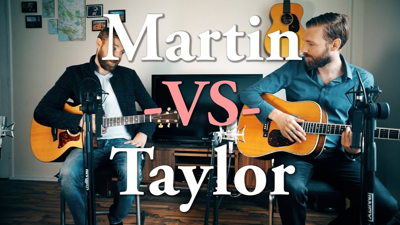 a comparison of the taylor and martin guitars