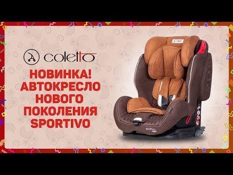 Автокресло нового поколения COLETTO SPORTIVO ISOFIX для долгих поездок. СУПЕРзащита! ВИДЕООБЗОР.