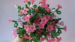 Дерево из бисера. Сакура из бисера , бусин и цветочков. Пошаговый МК.