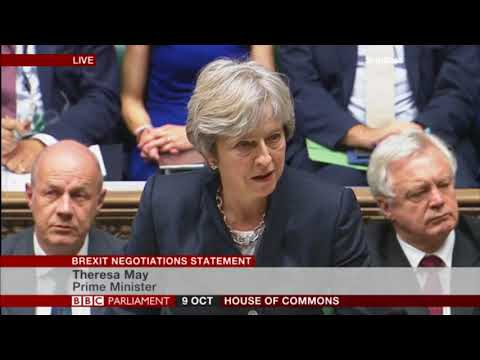 Theresa May updates the House of Commons on Brexit negotiations