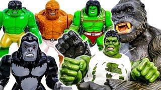 Кінг-Конг Битва Халка Сімейна Іграшка Колекції~! Крихітні Горили Допомогти Дітям~ Іди Іди #Toymarvel