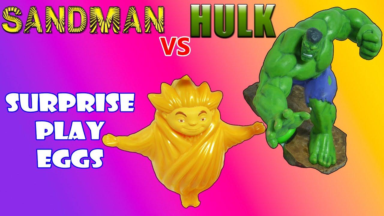 Download HULK vs SANDMAN   Surprise Play Eggs   Unboxing Toys for Kids   bEN 10 rOOK bLONKO Dragon Beast