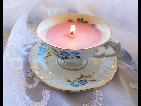 Making a teacup candle