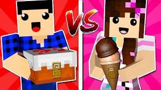 CASA BOLO 🍰 VS. CASA SORVETE! 🍦 - Minecraft Casa vs. Casa