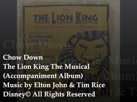 04 Chow Down The Lion King The Musical Backing tracks