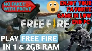 how to play FREE FIRE IN 2GB RAM pc and laptop | techno san | free fire ]best 2gb ram Emulator