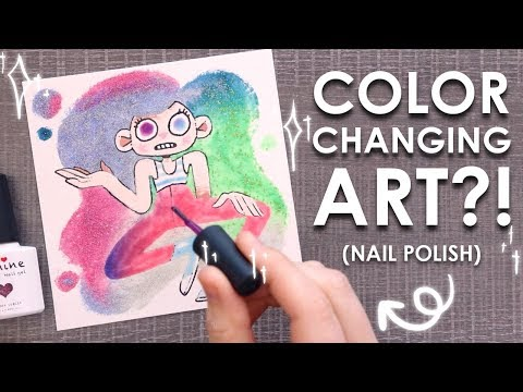 Art That Changes Color?! - PAINTING with NAIL POLISH