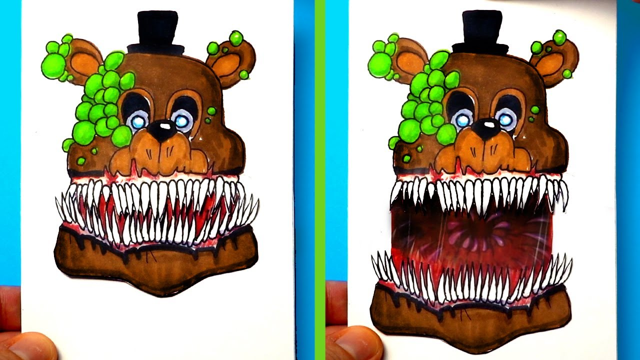 CREATE YOUR FNAF ANIMATRONICS   7 COOL Five Nights at Freddy's DIY IDEA CHALLENGE | You cant hide