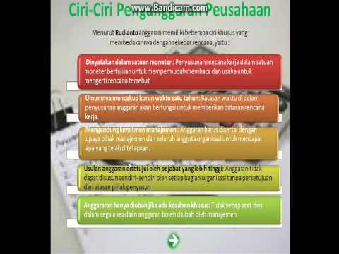 Presentasi Penganggaran Perusahaan (pengertian Dan Ciri-ciri)