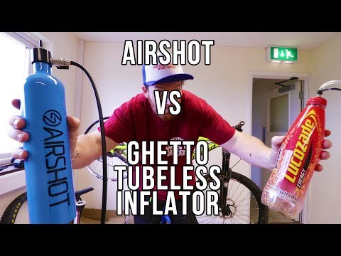 Airshot Vs Ghetto Homemade Tubeless Inflator !
