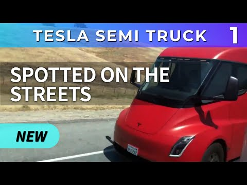 Tesla Semi Truck Spotted On Streets COMPILATION - PART 1 -SemiTruck On The Roads Insane Acceleration