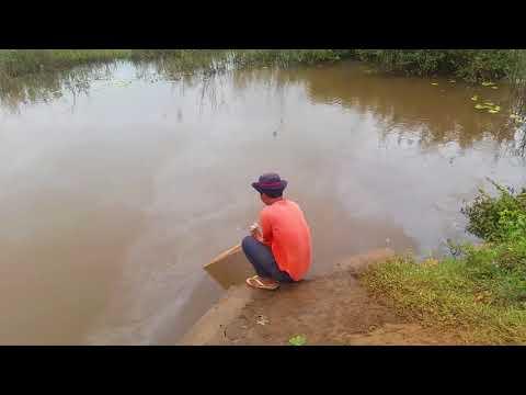 Survival Skills Primitive Traditional Khmer net fishing in river - Amazing Cast net fishing videos
