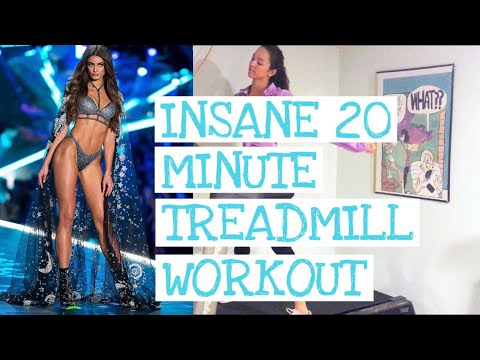 INSANE 20 MINUTE TREADMILL WORKOUT ❥ TAYLOR HILL'S PRE-VICTORIA SECRET REGIME w Nattie Jae #Regime