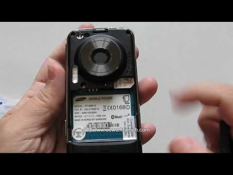 Samsung Pixon12 GT-M8910 12 megapixel camera phone video review @ OCWORKBENCH