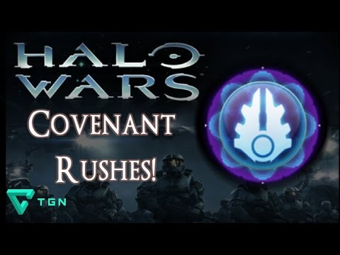 Covenant Rushes! Halo Wars Multiplayer Standard 1v1 - LIVE COMMENTARY Brute Chieftain
