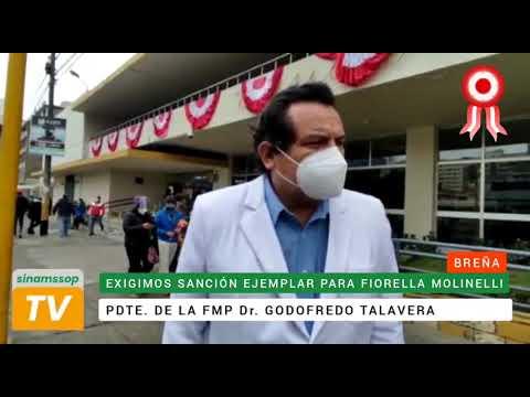 Presidente de la Federación Médica Perauana exige sanción ejemplar para Fiorella Molinelli