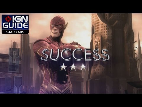 Injustice: Gods Among Us - Get 3 Stars on All Flash STAR Labs Missions - STAR Labs Part 4