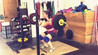 Tamara: 98kg Front Squat PR! Weightlifting Academy Team