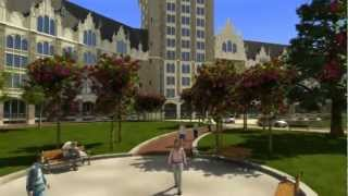 State University of New York SUNY Administration Building - Virtual Tour Animation