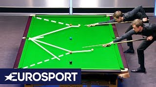 Ronnie O'Sullivan and Jimmy White Recreate Exhibition Clearance   Welsh Open 2019   Eurosport