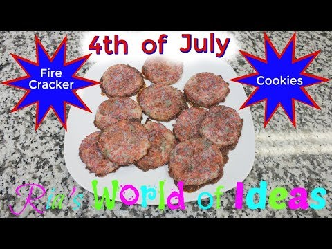 4th Of July Firecracker Cookies - SIMPLE AND EASY DESSERTS - KIDS COOKING RECIPE - Collab