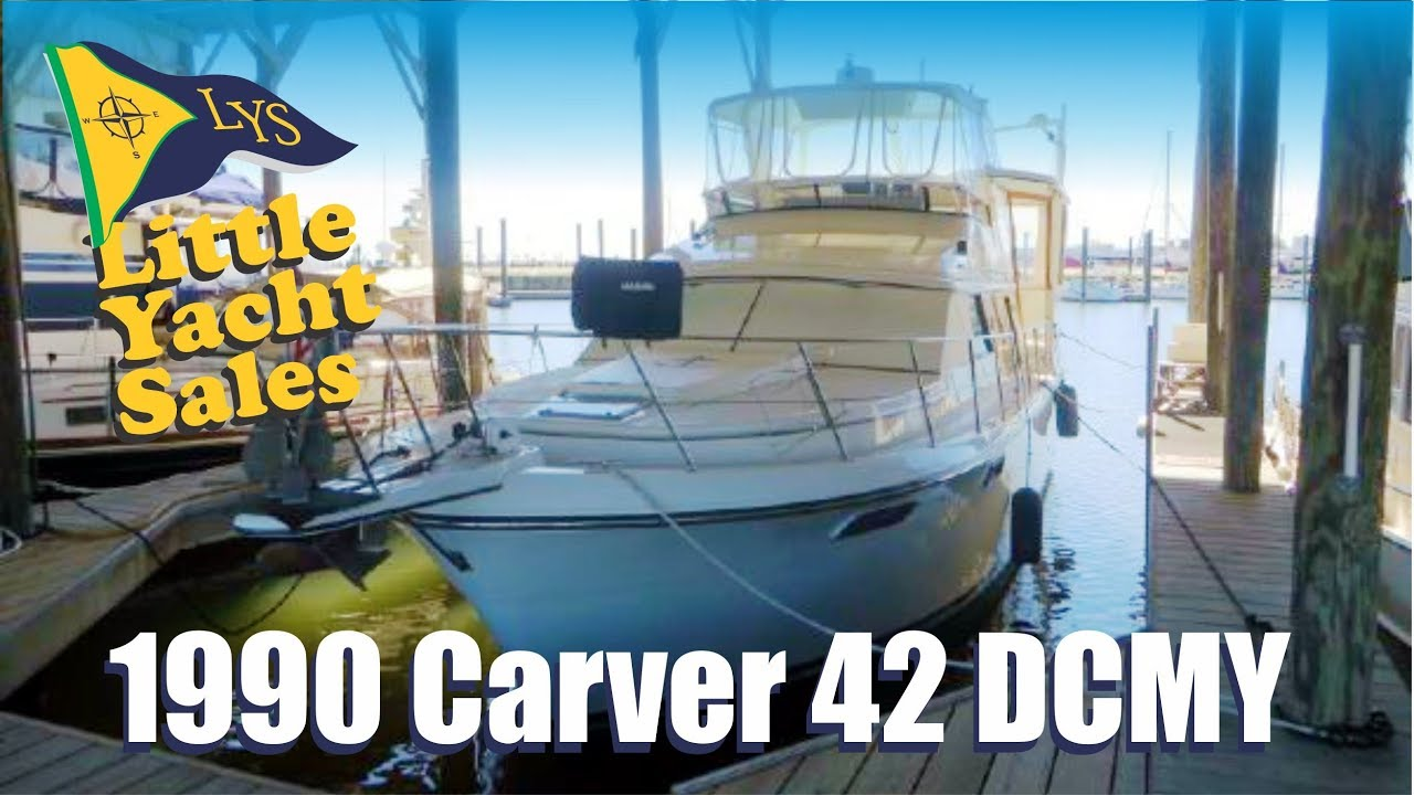 SOLD!!! 1990 Carver 42 DCMY for sale at Little Yacht Sales, Kemah Texas