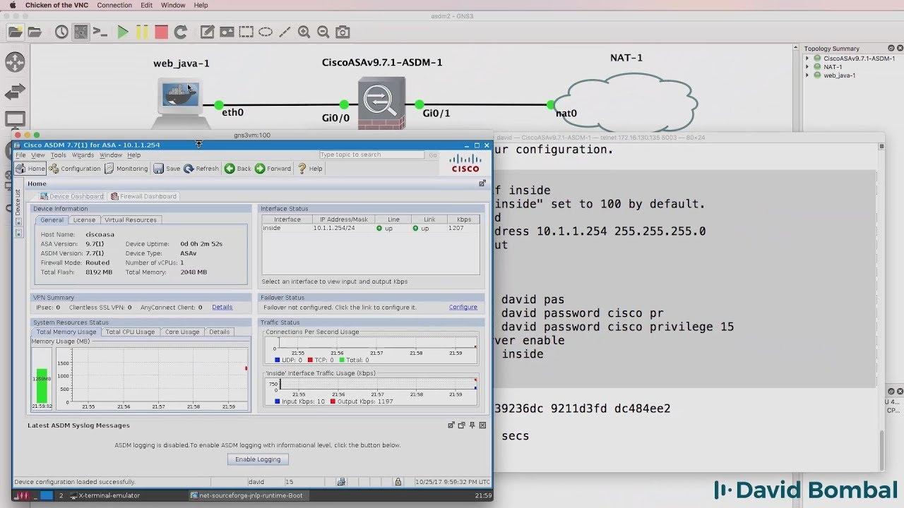 Discussions - GNS3, Cisco ASA and ASDM: Configure VIRL ASAv firewall
