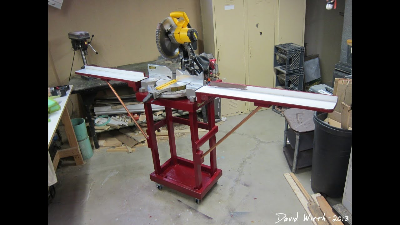 Miter Saw Stand Folding Dewalt Youtube