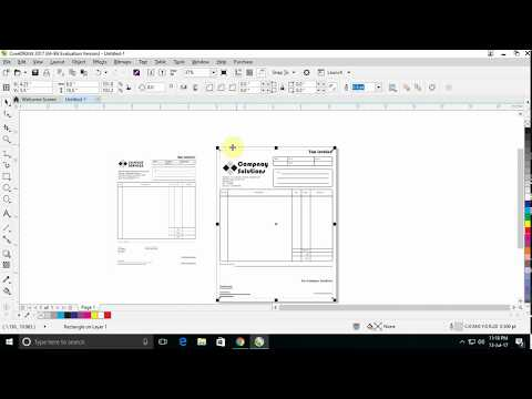 How to create tax invoice in coreldraw