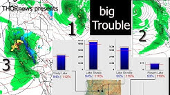 Major Alert! California has 4 dams over 90% & 3 Storms in bound for NW.