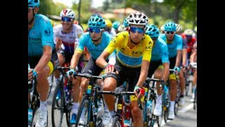 FABIO ARU TEAM MATE GLAD FROOME GOT YELLOW JERSEY BACK