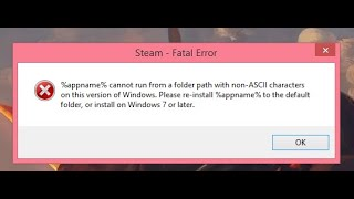 Ошибка!!! Steam fatal error: %appname%......