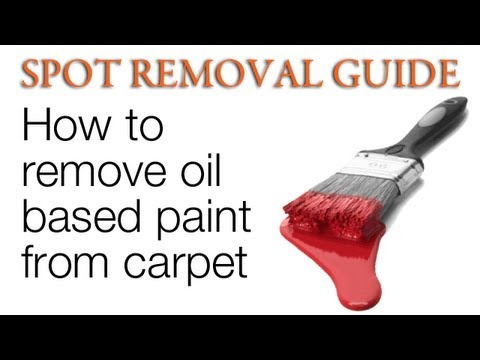 how to get paint out of carpet oil based paint spot