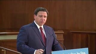 NEWS CONFERENCE: Gov. DeSantis gives update on unemployment in Florida (36 minutes)