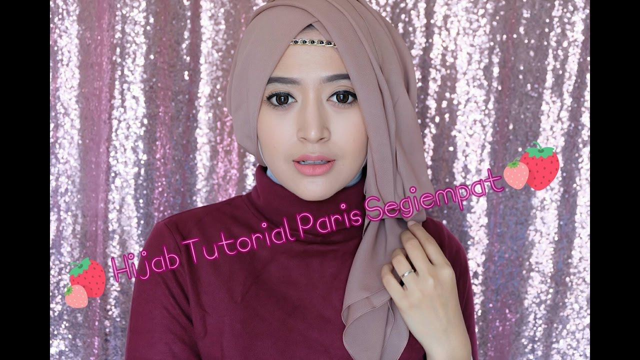 64 Hijab Tutorial Paris Segiempat Semi Formal Natasha Farani