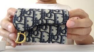 Dior Oblique Saddle Card Holder Review Youtube