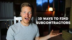 How to find quality subcontractors for your contracting business | 10 Ways