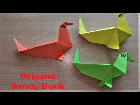 How To Make Origami Paper Swanduck Easy Tutorial For Making