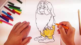 """Sleepy - How to Draw and Paint Sleepy from """"Snow White and The Seven Dwarfs"""""""